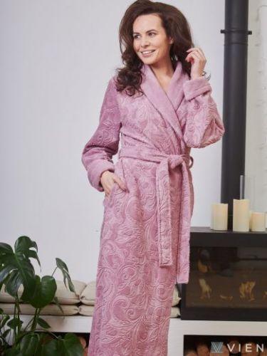 Женский бамбуковый халат Belinda сухая роза