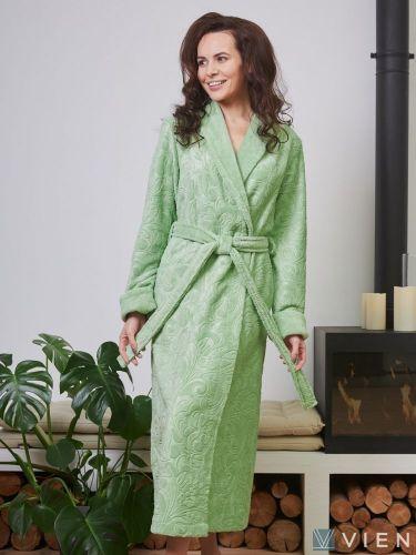 Женский бамбуковый халат Belinda фисташка