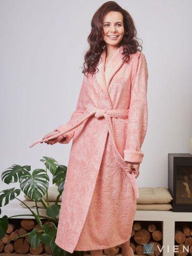 Женский бамбуковый халат Belinda персик