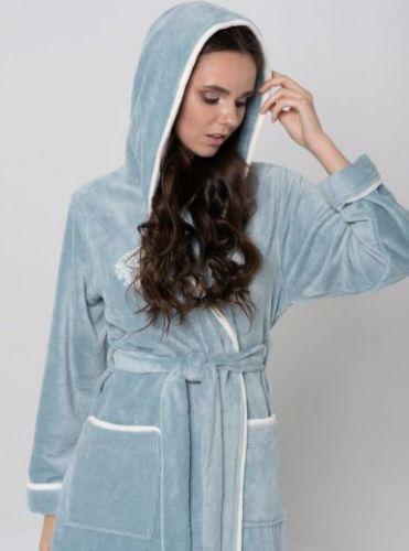 Женский бамбуковый халат Juliette ниагара