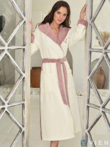 Женский бамбуковый халат Arianna пудра