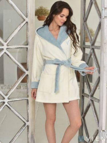 Женский бамбуковый халат Arianna Light ниагара