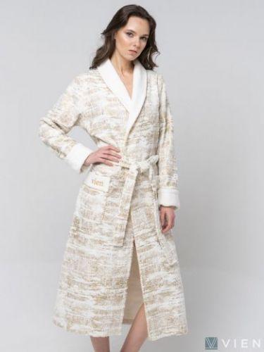 Женский бамбуковый халат Cleopatra крем