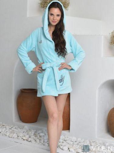 Женский бамбуковый халат Mia ментол