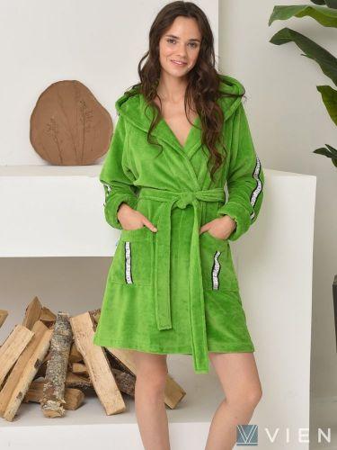 Женский бамбуковый халат Atmosphere lime