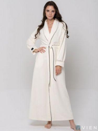 Женский махровый халат Elegance Line крем