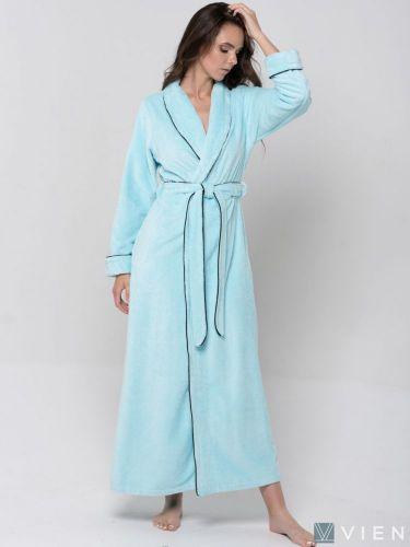 Женский махровый халат Elegance Line ментол