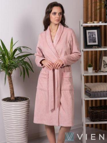 Женский бамбуковый халат Verona пудра