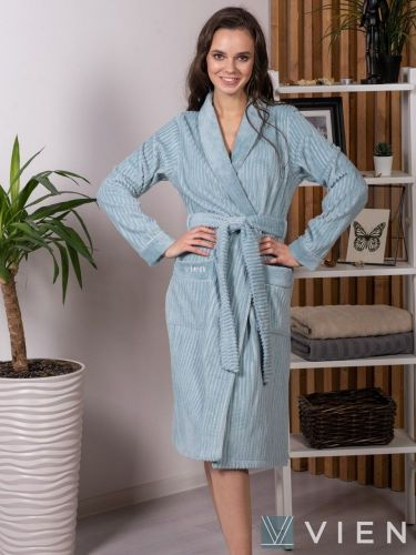 Женский бамбуковый халат Verona ниагара