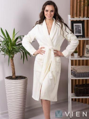 Женский бамбуковый халат Verona крем