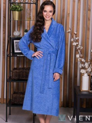 Женский бамбуковый халат Carlotta фиалка
