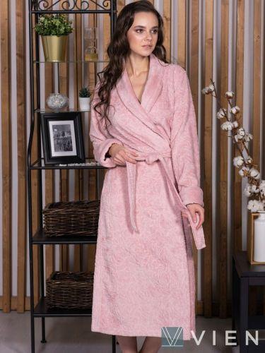 Женский бамбуковый халат Carlotta пудра