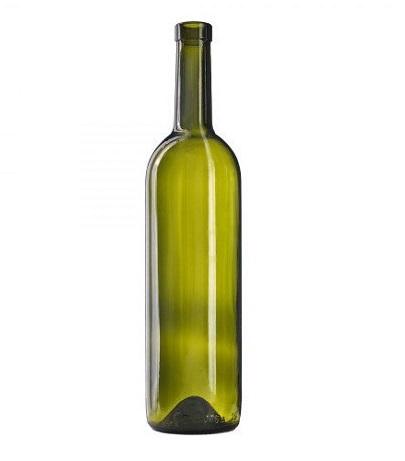 Винная бутылка Бордо, 0,7 л / 12 шт (оливковое стекло)