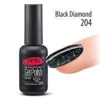 Цветной гель-лак PNB №204 Black Diamond, 8мл