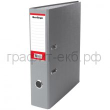 Файл А4 7см Berlingo серый/карман АМ4514