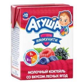 Коктейль молочный Агуша лесные ягоды  200мл