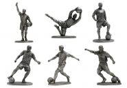 Набор статуэток футболистов 6шт (олово)