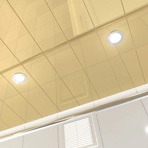 Реечный потолок золотой