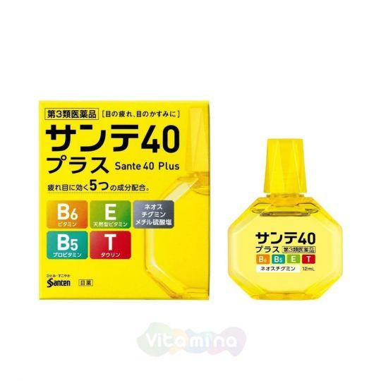 Sante 40 Plus Возрастные капли с витамином E, B6 и таурином, 12 мл