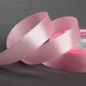 Лента атласная 01 см цвет розовый