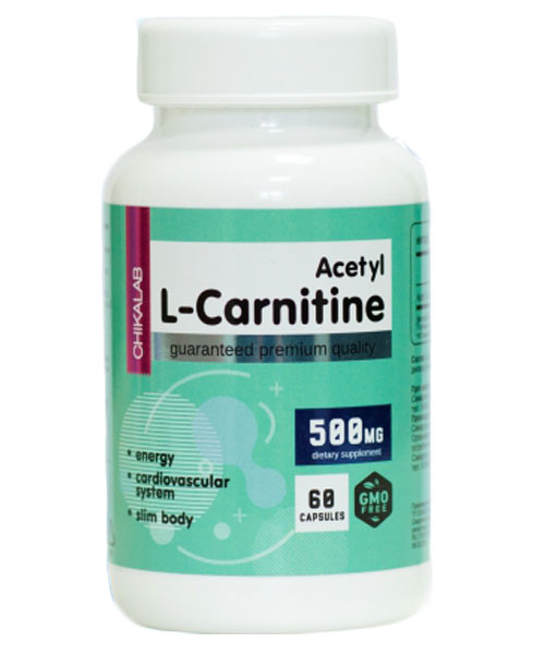 Acetyl l-carnitine 500 мг Chikalab 60 капсул