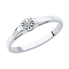 Кольцо из серебра с бриллиантом 87010053 SOKOLOV