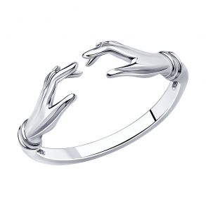 "Кольцо из серебра ""Руки"" 94013251 SOKOLOV"