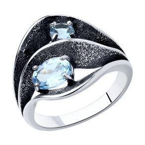 Кольцо из серебра с топазами 92011980 SOKOLOV