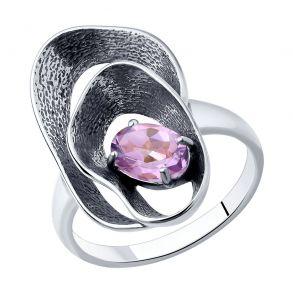 Кольцо из серебра с аметистом 92011984 SOKOLOV