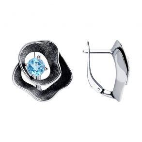 Серьги из серебра с топазами 92022351 SOKOLOV