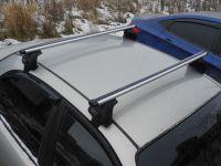 Багажник на крышу Hyundai Sonata седан 1998-2011г IV (EF), Евродеталь, аэродинамические дуги