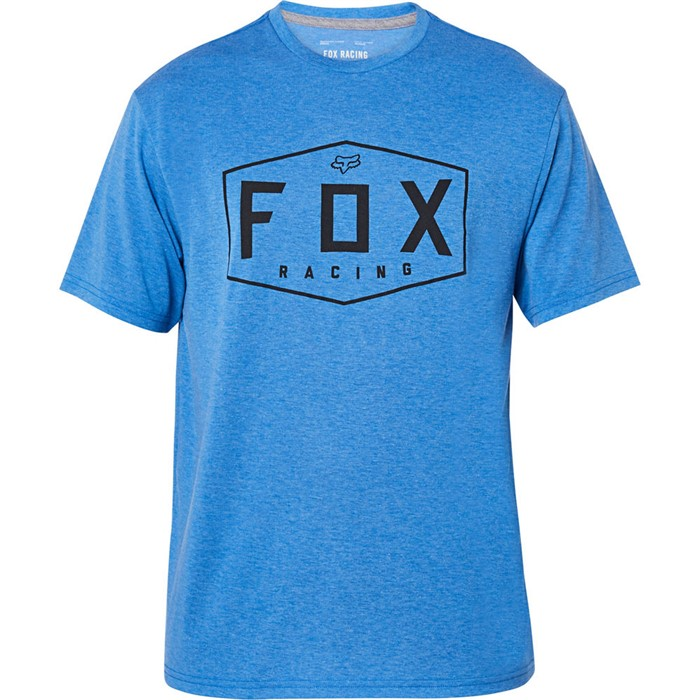 Fox Crest SS Tech Tee Heather Royal футболка