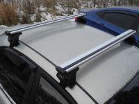 Багажник на крышу Hyundai Sonata седан 1998-2011г IV (EF), Евродеталь, крыловидные дуги