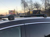 Багажник на крышу Nissan Murano Z52, 2014-..., Lux Bridge, крыловидные дуги (черный цвет)