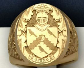 Позолоченная печатка с гербом Spero (арт. 880321)