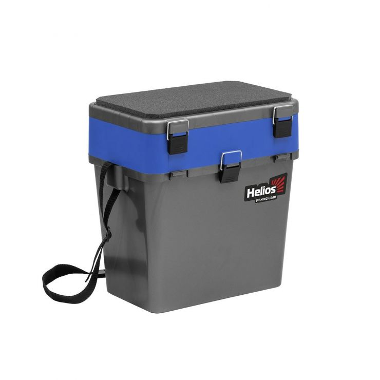 Ящик зимний HELIOS двухсекционный серый/синий HS-IB-19-GB