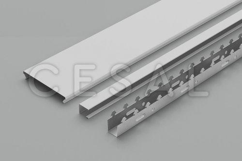 Комплект реечных потолков cesal s150 белый мрамор
