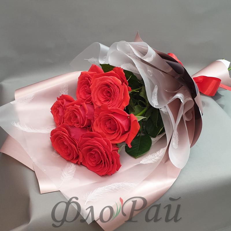Букет 7 цветных роз