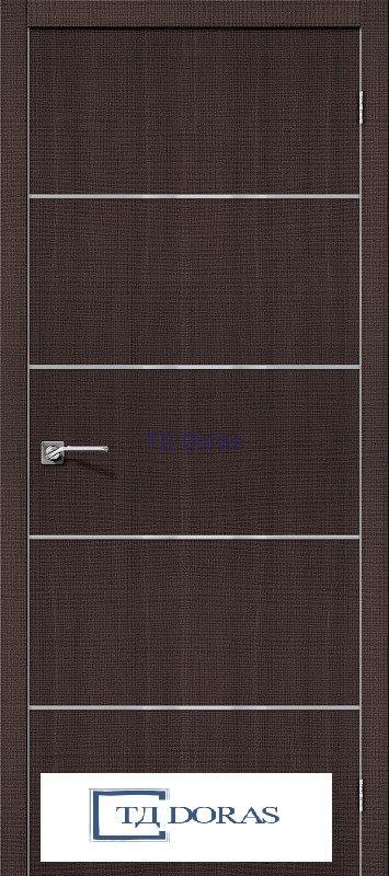Межкомнатная дверь с экошпоном Порта-50А-6 Wenge Crosscut