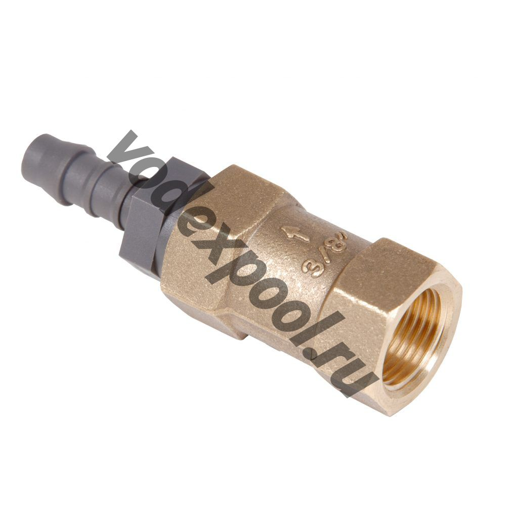 Обратный клапан для противотока, с ПВХ-винт / 8 бронза