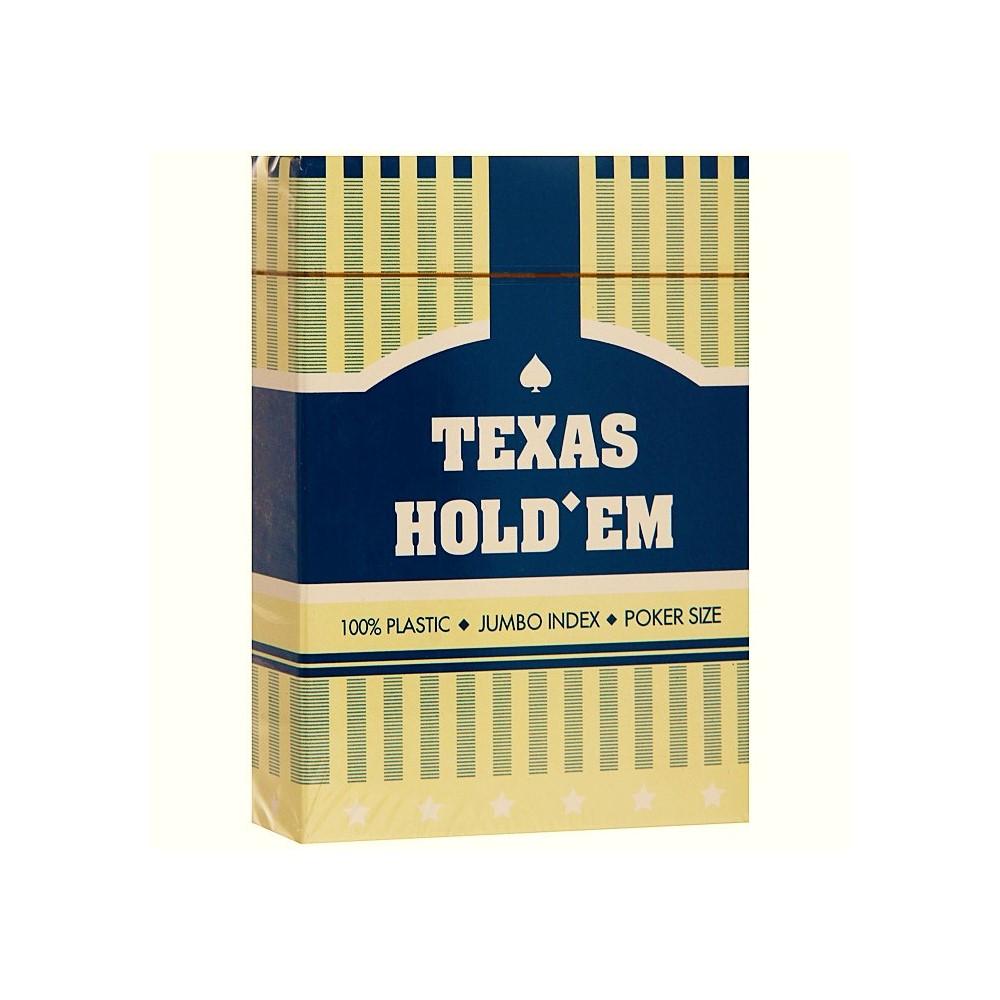 Карты для покера 100% пластик Texas Hold'em