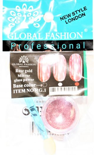 Зеркальная втирка Глобал Фэшн MIRROR GLASS POWER ROSE GOLD