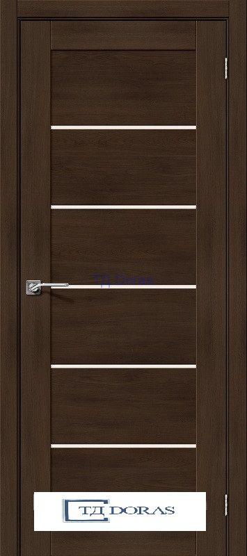 Межкомнатная дверь с экошпоном Легно-22 Dark Oak