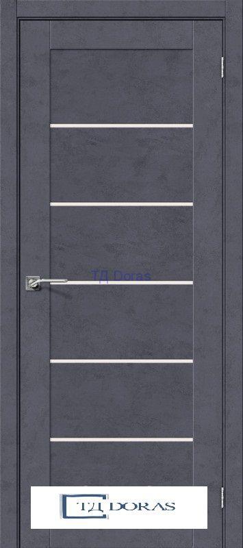 Межкомнатная дверь с экошпоном Легно-22 Graphite Art