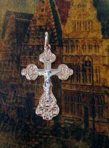 Позолоченный крест с комбинированным покрытием (арт. 250306)