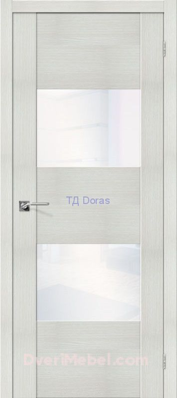 Межкомнатная дверь с экошпоном VG2 WW Bianco Veralinga