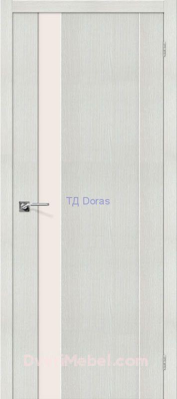 Межкомнатная дверь с экошпоном Порта-11 Bianco Veralinga