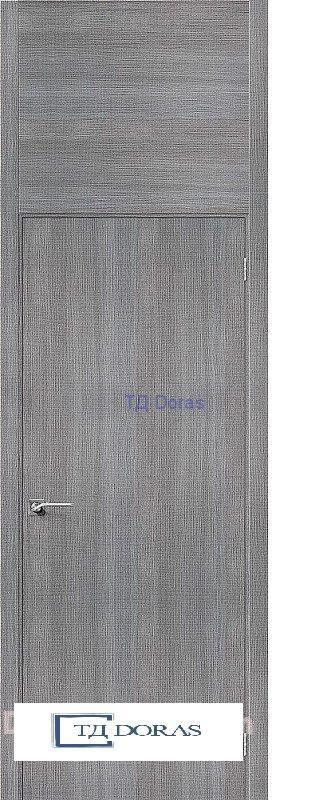 Межкомнатная дверь с экошпоном Гулливер Порта-50 Grey Crosscut