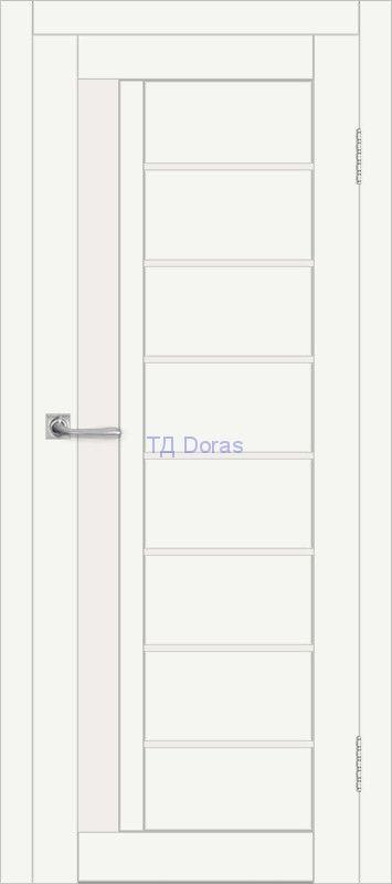 Межкомнатная дверь ДП DIM I-2 Crystal Matt Сатинато Белый