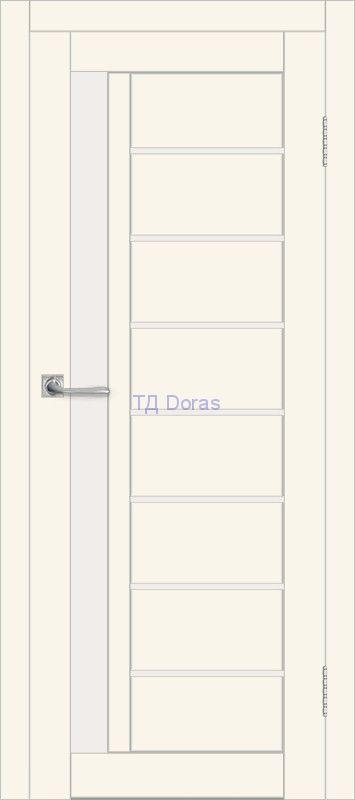 Межкомнатная дверь ДП DIM I-2 Angel Matt Сатинато Белый